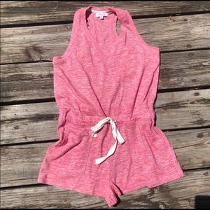 Women's Medium Pink Romper from Pink Lily Boutique